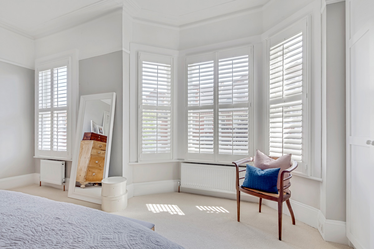 Sash & Bay Window Shutters - Bedroom Shutters - Window Shutters - The London Shutter Company