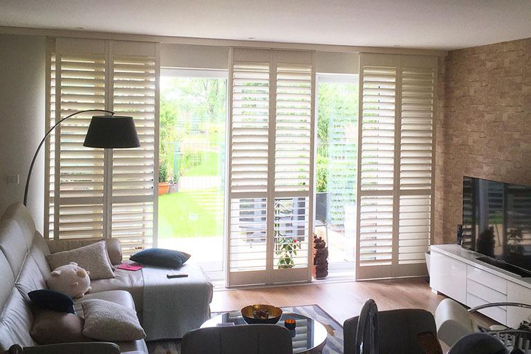 Patio Doors Shutters - Living Room Shutters - Window Shutters - The London Shutter Company