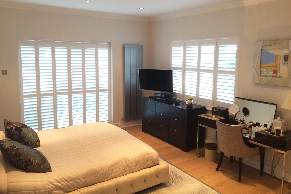 Sash Window Shutters - Bedroom Room Shutters - Shutters for Doors - Window Shutters - The London Shutter Company