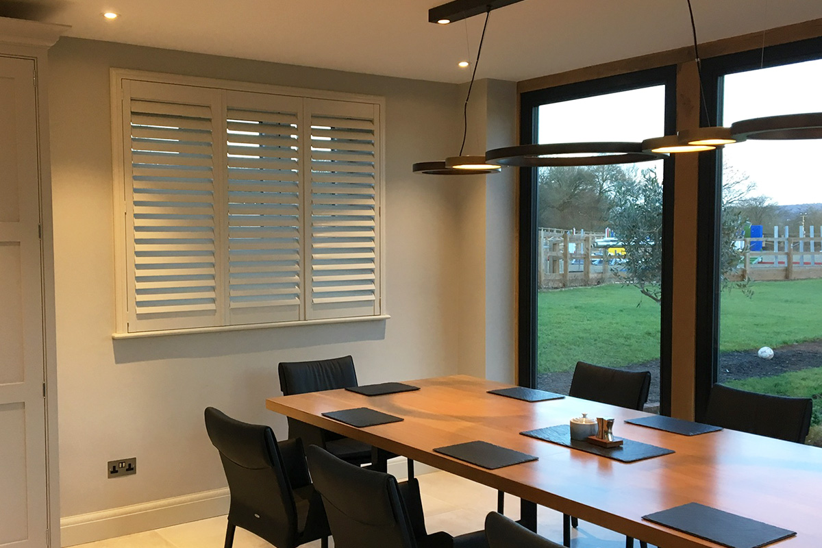 Sash Window Shutters - Dining Room Shutters - Window Shutters - The London Shutter Company