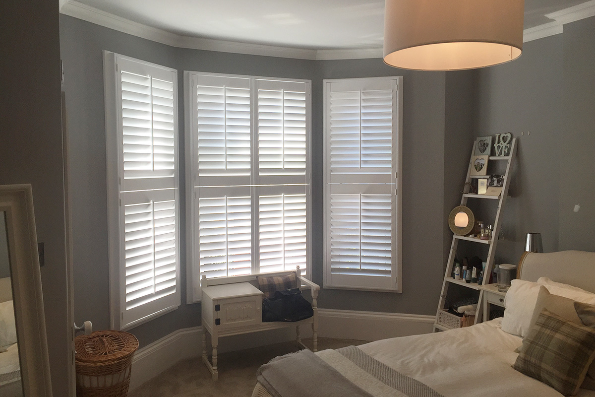 Bay Window Shutters - Bedroom Shutters - Window Shutters - The London Shutter Company
