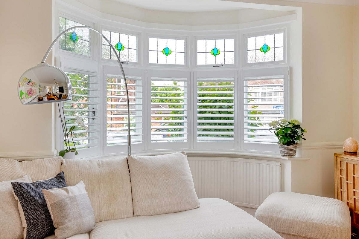 Living Room Shutters by The London Shutter Company