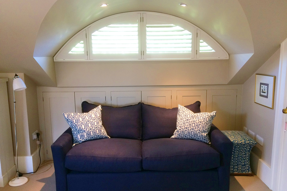 Arched Window Shutters - Bedroom Shutters - Window Shutters - The London Shutter Company