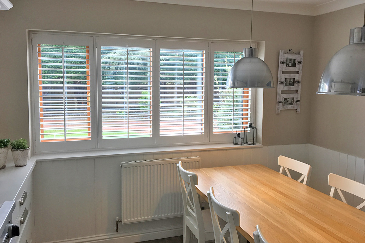 Sash Window Shutters - Dining Room & Kitchen Shutters - Window Shutters - The London Shutter Company
