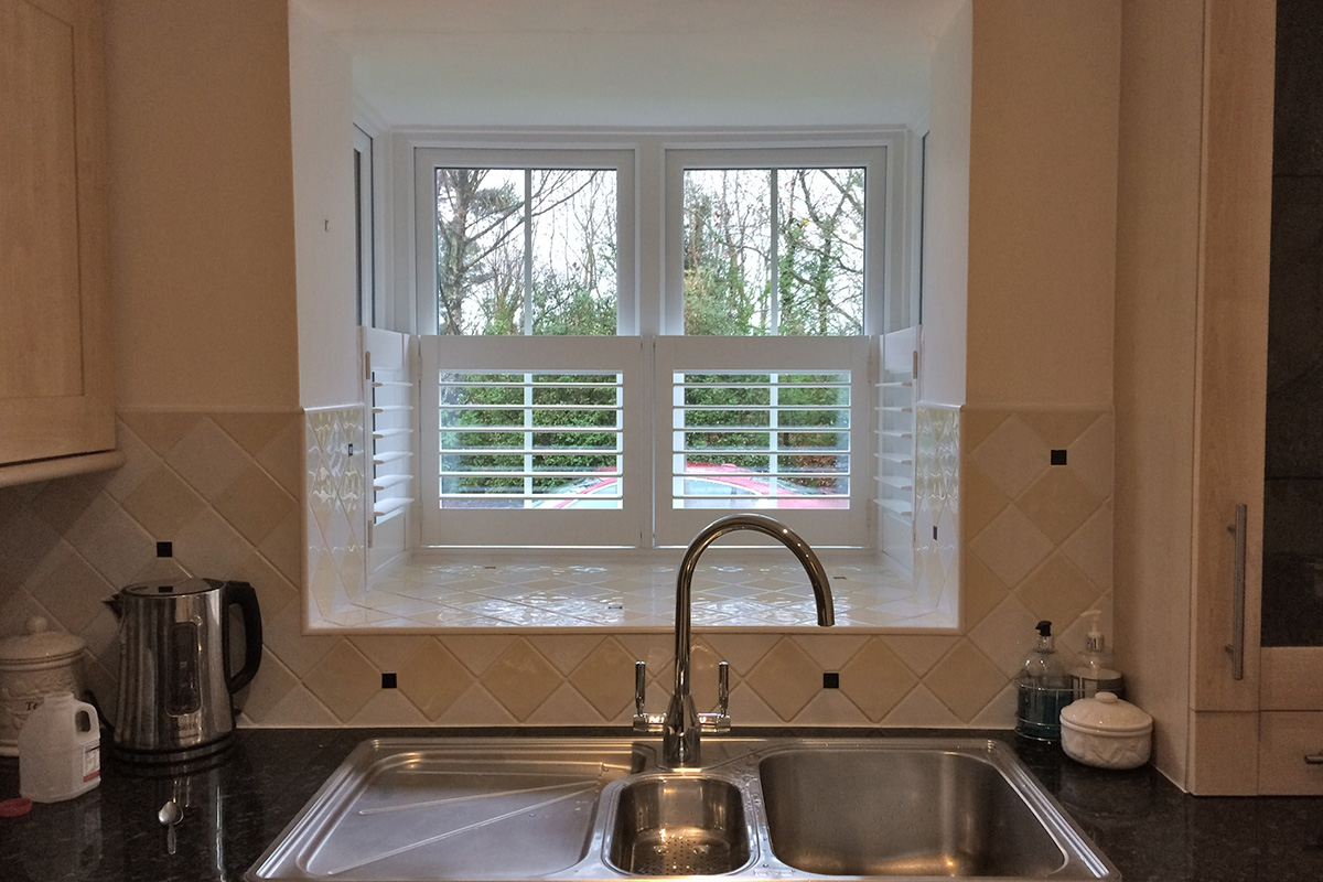 Bay Window Shutters - Kitchen Shutters - Window Shutters - The London Shutter Company