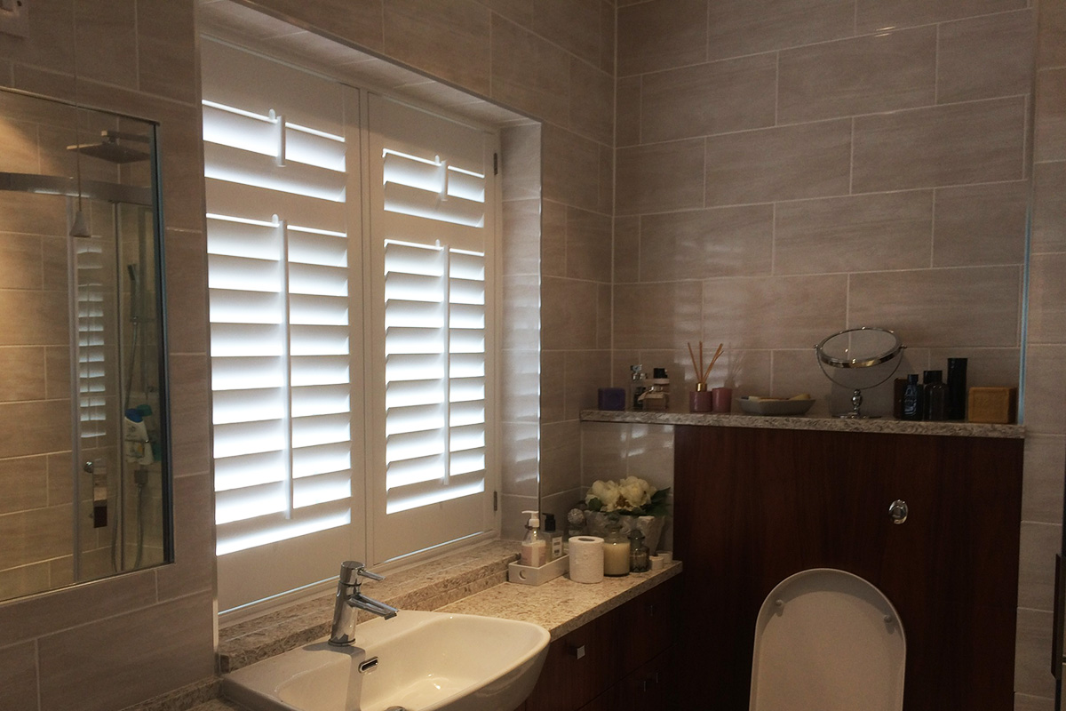 Sash Window Shutters - Bathroom Shutters - Window Shutters - The London Shutter Company