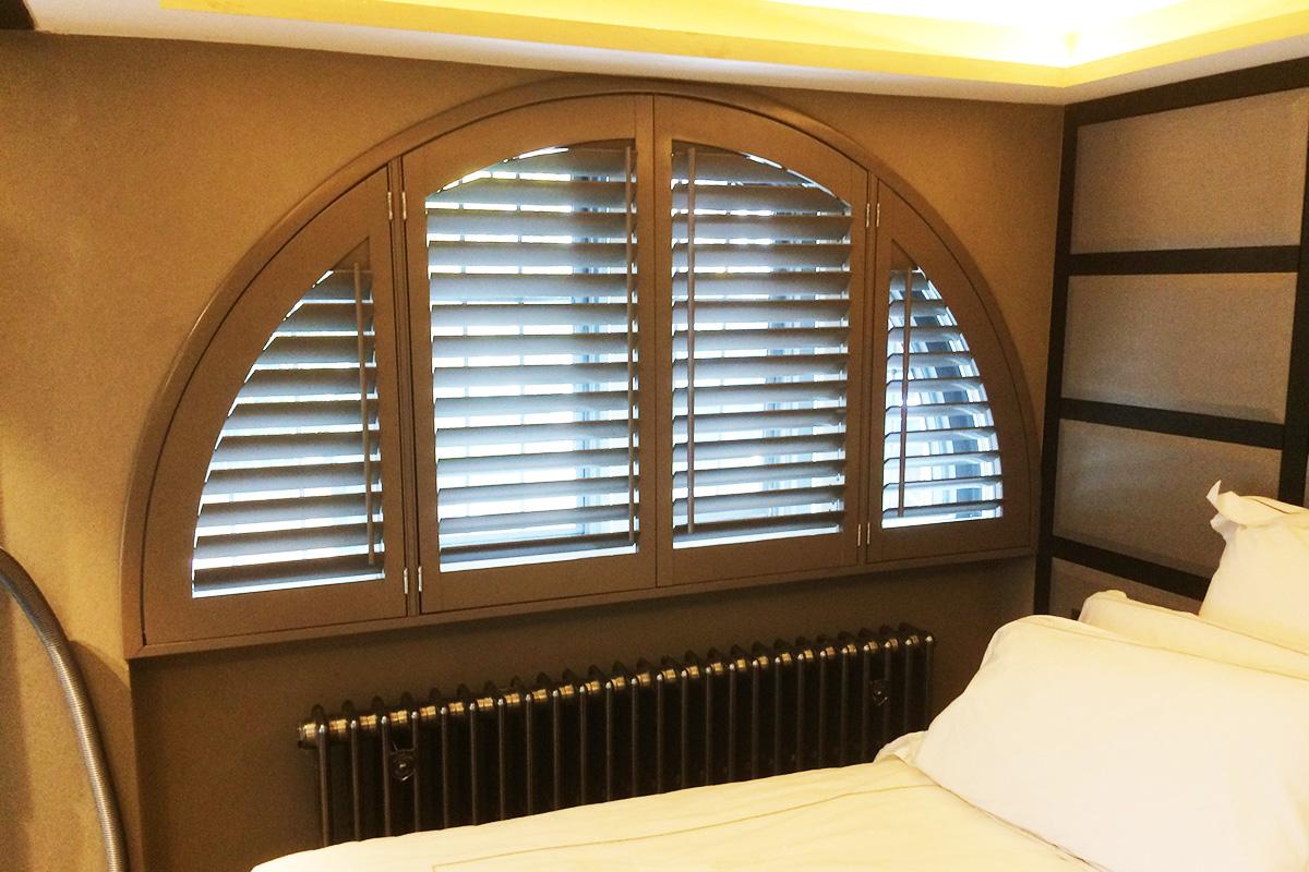 Arched Window Shutters - Bedroom Shutters - Window Shutters - The London Shutter Company