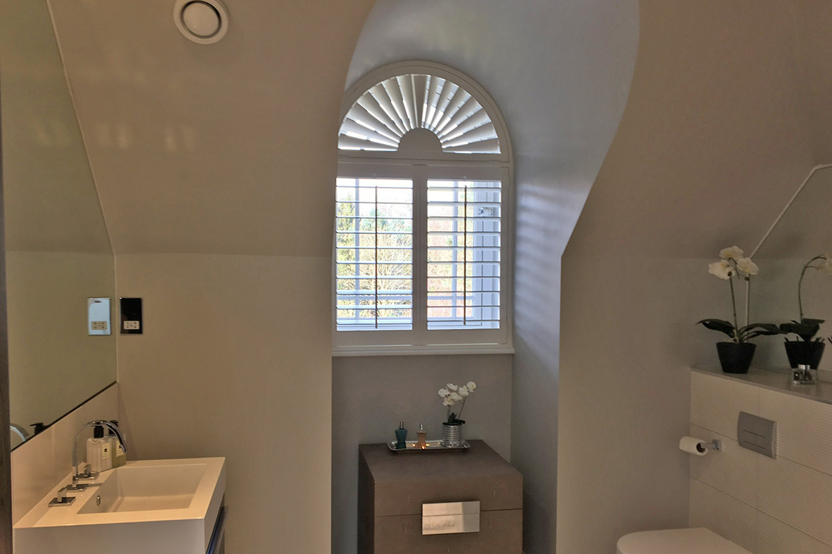 Arched Window Shutters - Bathroom Shutters - Window Shutters - The London Shutter Company